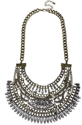 Sterling Forever Multi Layered Crest Statement Necklace