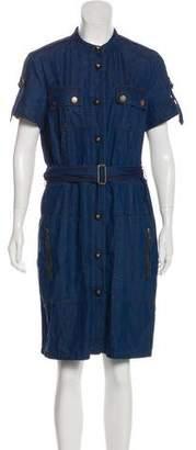 Lanvin x Acne Denim Knee-Length Dress