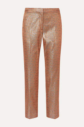 Dries Van Noten Poumas Lamé Straight-leg Pants - Tan