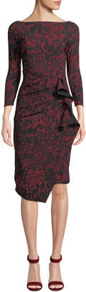 Chiara Boni Zelma Side-Shirred Printed Dress