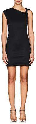 Helmut Lang Women's Twisted-Shoulder Compact Knit Minidress