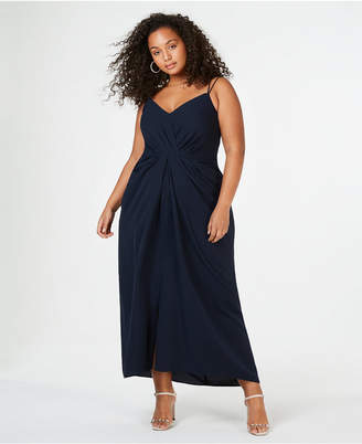 City Chic Trendy Plus Size Luciana Draped Gown