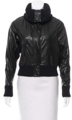 Vince Leather Dolman Jacket