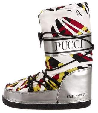 Emilio Pucci Printed Lace-Up Moon Boots