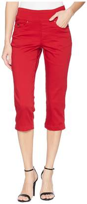 FDJ French Dressing Jeans D-Lux Denim Pull-On Capris in Red Women's Jeans