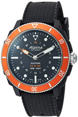 Alpina Men's 'Horological' Quartz Stainless Steel and Rubber Smart Watch