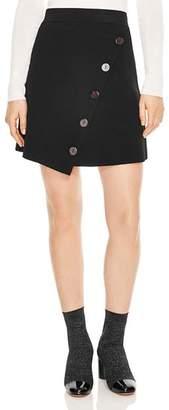 Sandro Fiji Asymmetric Decorative-Button Skirt