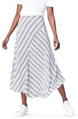 FIND Women's Skirt Midi Stripe Asymmetric,8 (Manufacturer size: X-Small)
