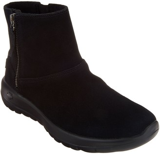 Skechers Suede Faux Fur Boots - Goldy