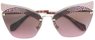 Miu Miu Folie rhinestone sunglasses