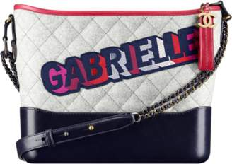 Chanel Gabrielle Hobo Gabrielle Quilted Multicolor Grey/Navy Blue/Red