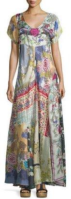 Johnny Was Dolce Vivo Patch Maxi Dress, Multi Colors, Plus Size $420 thestylecure.com