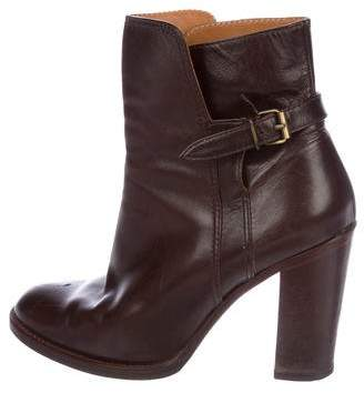 Veronique Branquinho Leather Round-Toe Ankle Boots