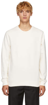 Sunspel White Loopback Sweatshirt