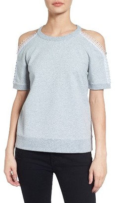 Women's Trouve Cold Shoulder Sweatshirt $69 thestylecure.com