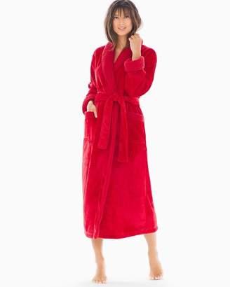 Natori Sherpa Robe Red