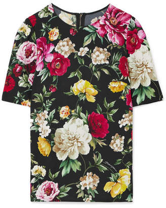floral short-sleeve top - Black Dolce & Gabbana Discount Store L5E5Y