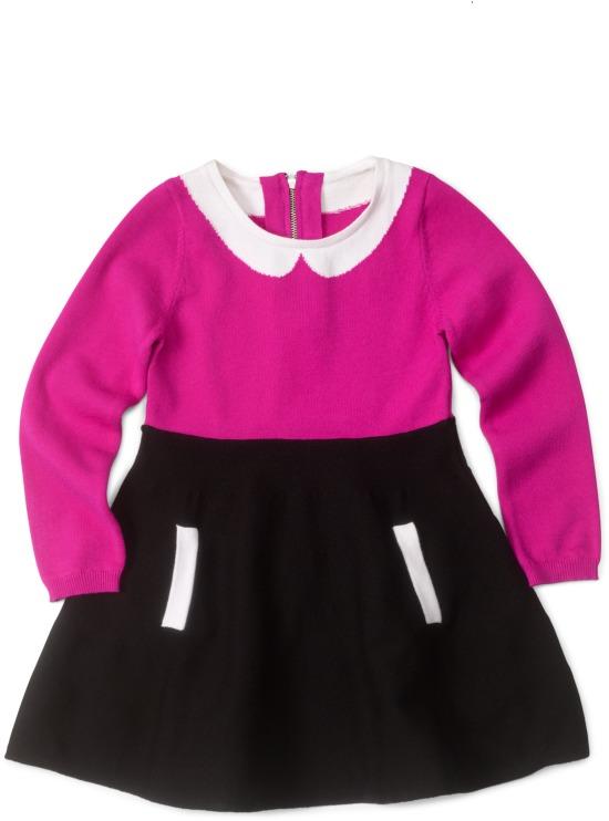 Milly Minis Amanda Intarsia Knit Dress