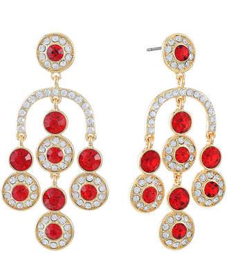 MONET JEWELRY Monet Jewelry Red Round Chandelier Earrings