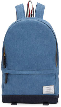 Thom Browne Blue Denim Unstructured Backpack