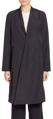 Eileen Fisher Solid Long Sleeve Coat $268 thestylecure.com