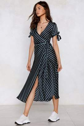 Nasty Gal Wrap Your Troubles in Dreams Striped Dress