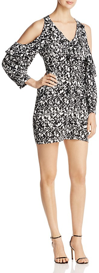 DKNYDKNY Cold Shoulder Abstract Print Dress