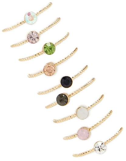 Forever 21 Colored Rhinestone Ring Set