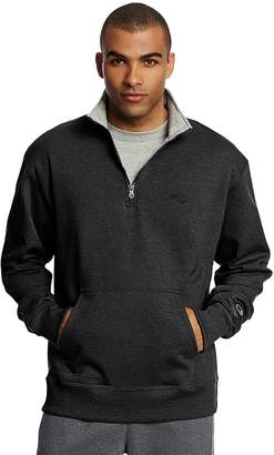 Champion Men's Fleece Powerblend Quarter-Zip Pullover