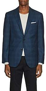 Pal Zileri MEN'S CHECKED WOOL TWO-BUTTON SPORTCOAT-BLUE SIZE 40 R