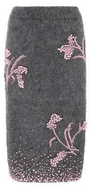 Mohair-blend beaded skirt