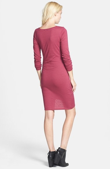 Women's Leith Ruched Long Sleeve Dress 4