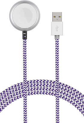 Element Works Purple/White Wireless Charger Braided Cable
