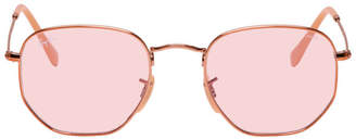 Ray-Ban Copper and Pink Hexagonal Evolve Sunglasses