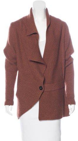 Zero + Maria Cornejo Merino Wool Rib Knit Cardigan