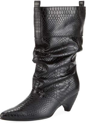 Stella McCartney Runway Snake-Embossed Boot