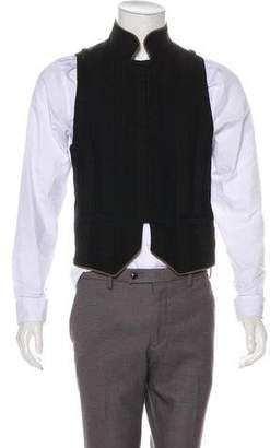 Ann Demeulemeester Linen-Blend Paneled Suit Vest