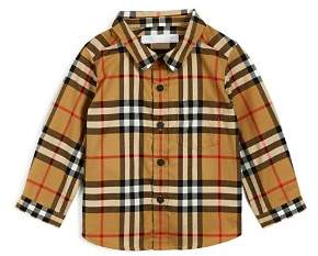 Burberry Boys' Fred Vintage Check Shirt - Baby