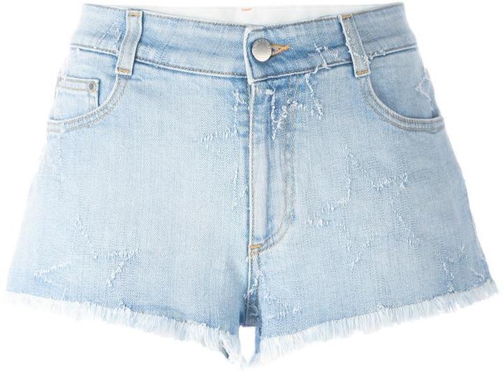 Stella McCartneyStella McCartney fringed star shorts