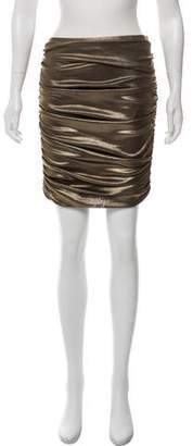 Halston Metallic Knee-Length Skirt