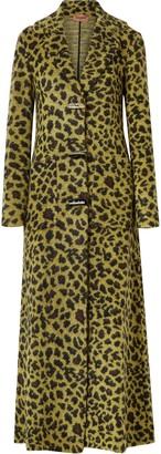Missoni Leather-trimmed Leopard-print Wool-blend Coat