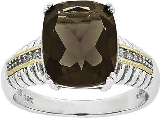 Couture FINE JEWELRY Shey Smoky Quartz and Diamond-AccentSterling Silver Antiqued Ring