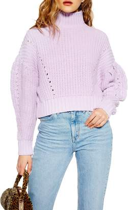 Topshop Cropped Turtleneck Sweater