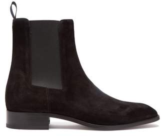 Christian Louboutin Samson Suede Chelsea Boots - Mens - Black