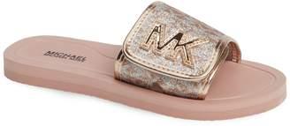 MICHAEL Michael Kors Eli Seneca Glitter Slide Sandal