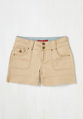 Boom Boom Jeans Exponential Potential Shorts in Khaki $34.99 thestylecure.com