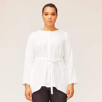Van Der Nag Ginevra Blouse Top in White Size 44