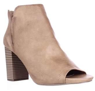 Madden-Girl Fiizzle Peep Toe Ankle Booties, Cognac Paris