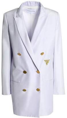 Vionnet Double-Breasted Embroidered Silk-Shantung Jacket