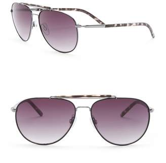 Joe's Jeans 59mm Aviator Sunglasses